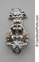 antikvitet, elegant, dörr portklapp