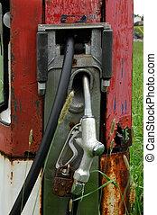 antikvitet, gas pumpa, handtag