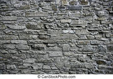 antikvitet, grå, sten, gammal, vägg, grunge, frimureri