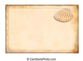 antikvitet, gulaktig, pergament, paper.