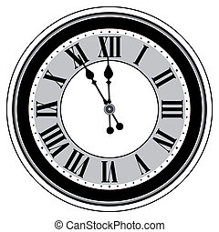 antikvitet, isolerat, klocka