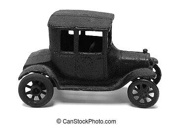 antikvitet, järn, leksak bil