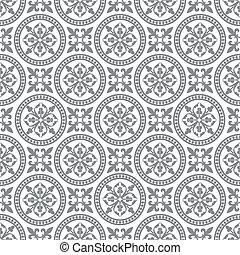 antikvitet, mönster, seamless