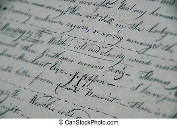 antikvitet, manuskript