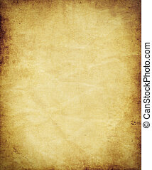 antikvitet, papper, gammal, pergament