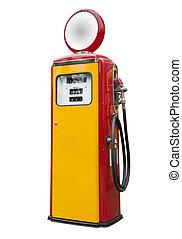 antikvitet, pump, gas, isolerat