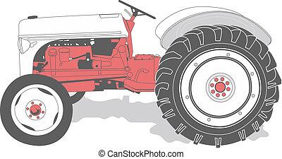antikvitet, traktor