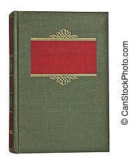 antikvitet, urblekt, grön, och, röd beställ