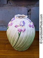 antikvitet, vas, på bordet