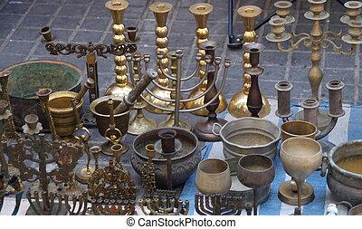 antikviteterne, ind, jerusalem, øst, marked