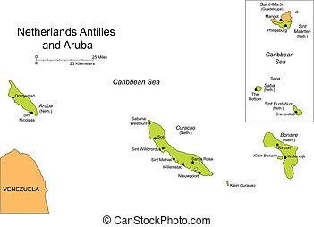 Antilles and Aruba, Islands