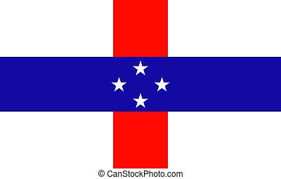 Antilles islands (Netherlands) flag
