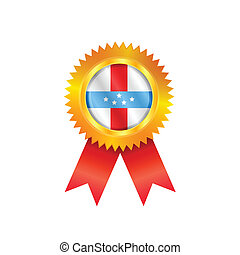 Antilles medal flag - Gold medal with the national flag of ...