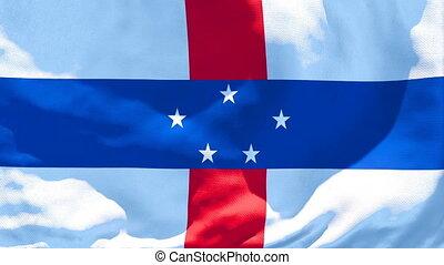 antilles, vent, flottements, drapeau, national, pays-bas