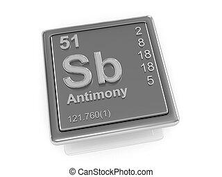 Antimony. Chemical element.