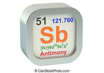 Antimony element symbol isolated on white background