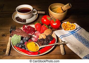 antiossidante, cena