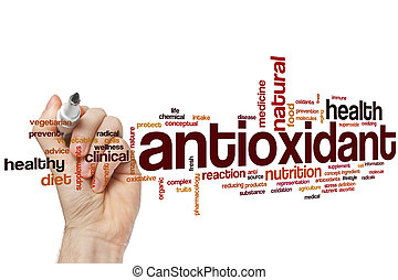 Antioxidant word cloud concept