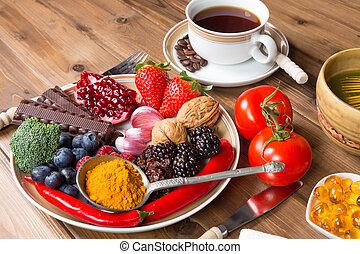 antioxidante, comida