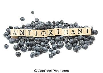 antioxidante, mirtilos
