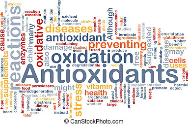 antioxidantes, concepto, salud, plano de fondo