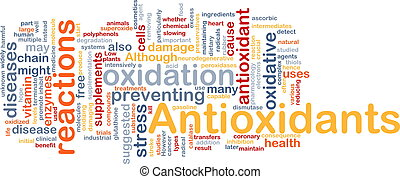 antioxidantes, salud, plano de fondo, concepto