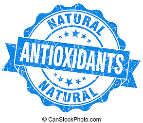 antioxidants blue vintage isolated seal