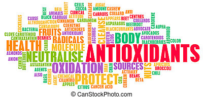 Antioxidants Concept or Anti Oxidants or Antioxidant