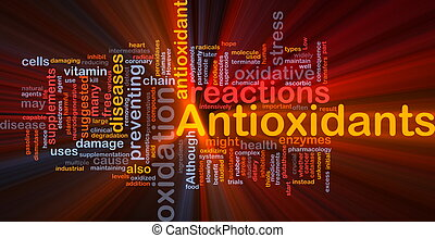 Antioxidants health background concept glowing - Background ...