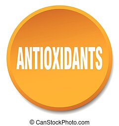 antioxidants orange round flat isolated push button