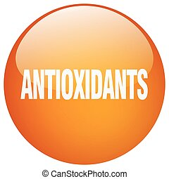 antioxidants orange round gel isolated push button