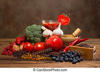 Antioxidants products - Colorful mixture of antioxidant...