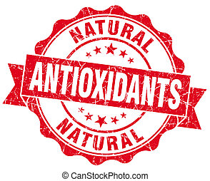 antioxidants red vintage isolated seal
