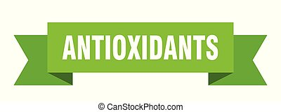 antioxidants ribbon. antioxidants isolated sign. ...