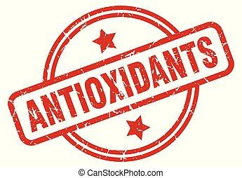 antioxidants round grunge isolated stamp