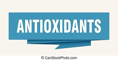 antioxidants sign. antioxidants paper origami speech bubble...