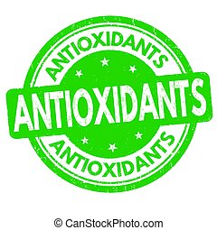 Antioxidants sign or stamp