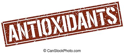 antioxidants square grunge stamp