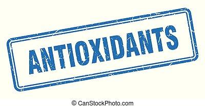 antioxidants stamp. antioxidants square grunge sign. ...