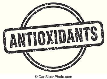 antioxidants vintage stamp. antioxidants sign