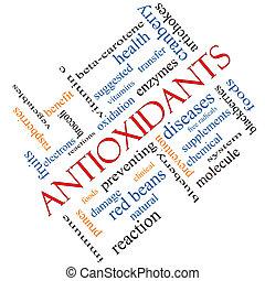 Antioxidants Word Cloud Concept Angled - Antioxidants Word...