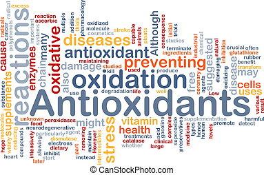 antioxydants, concept, santé, fond