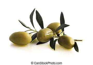Antipasti - olives - olives with Olive Oil