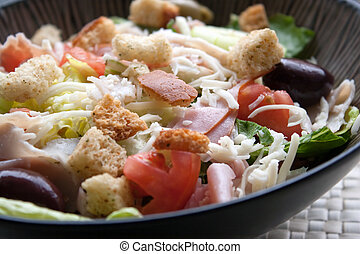 Antipasto Chefs Salad - A delicious looking tossed chefs...