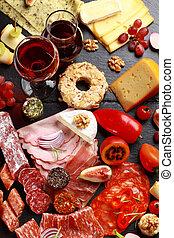 antipasto, platter, catering