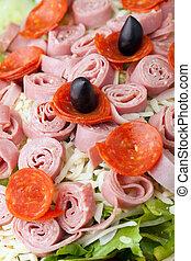 Antipasto Salad Closeup