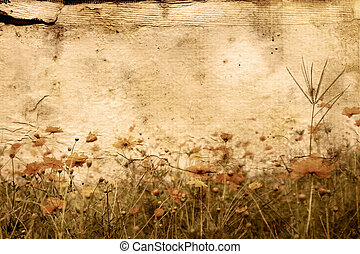 antiquado, artisticos, flor