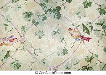 antiquado, papel parede