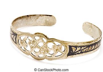 antiquarian bracelet - series object on white - antiquarian...