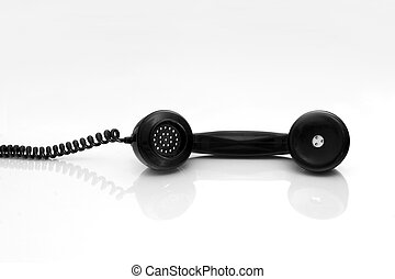 Antiquated phone handset with reflection